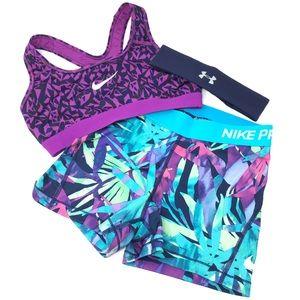 Nike Pro Drifit Aqua Yoga Workout Gym Shorts SM